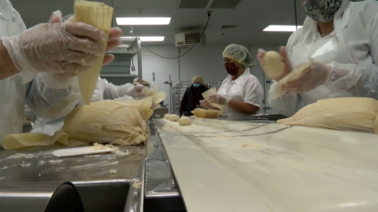 Tucson Tamale assembly line