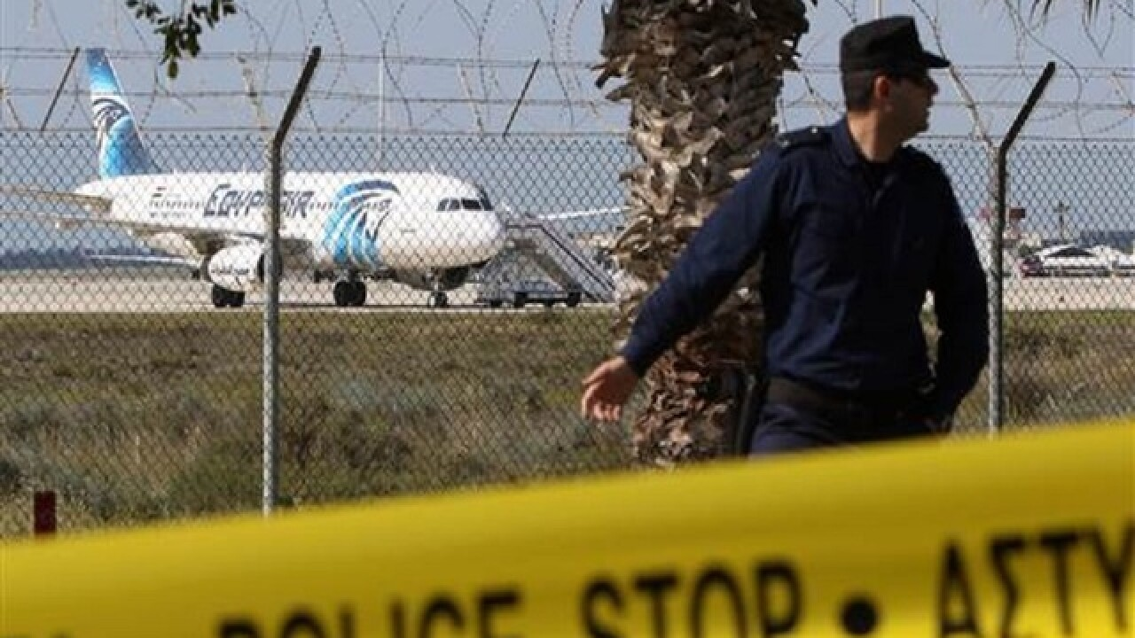 EgyptAir plane hijacker arrested after Cyprus landing