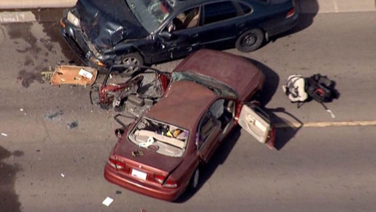 FD: 3 children, 2 others hurt in Phoenix crash
