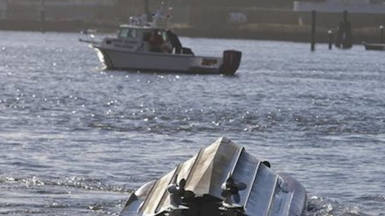 Coast Guard boat overturns off NYC, crew safe