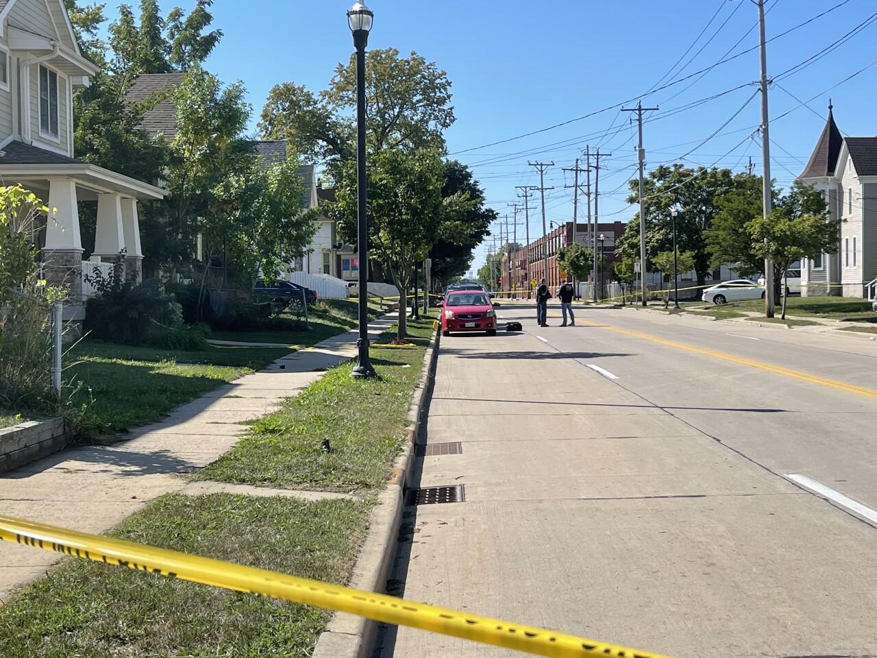 Racine shooting crime scene