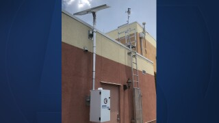 A weather data station in Martin County.