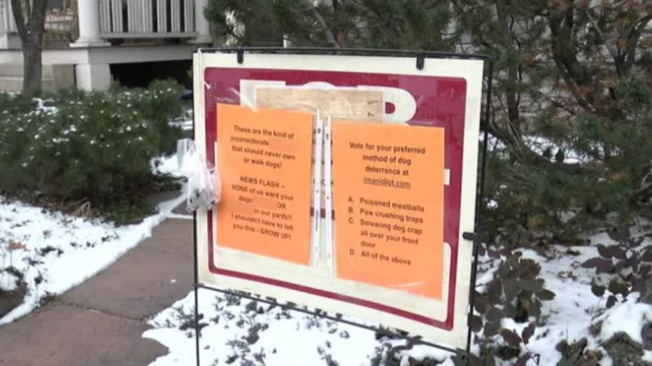 dog threat sign Denver