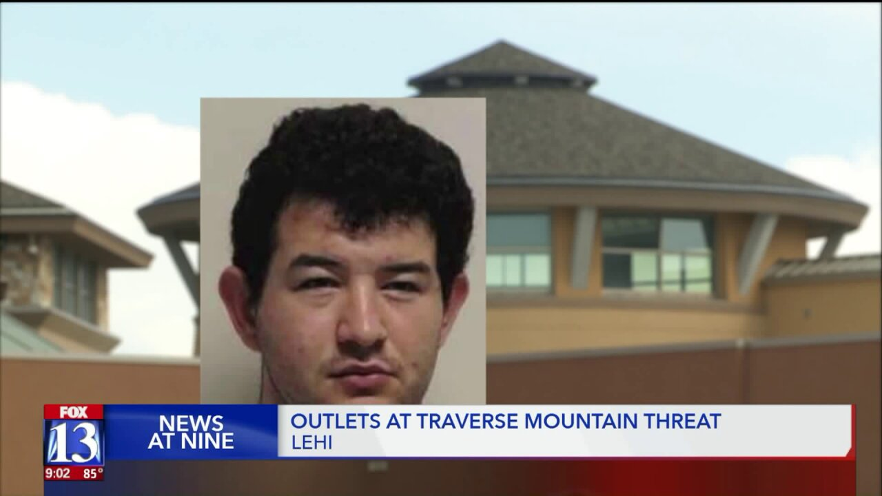 'You won't even see it coming': Man arrested for 'prank' terrorist threat phone call to Traverse Mountainoutlets