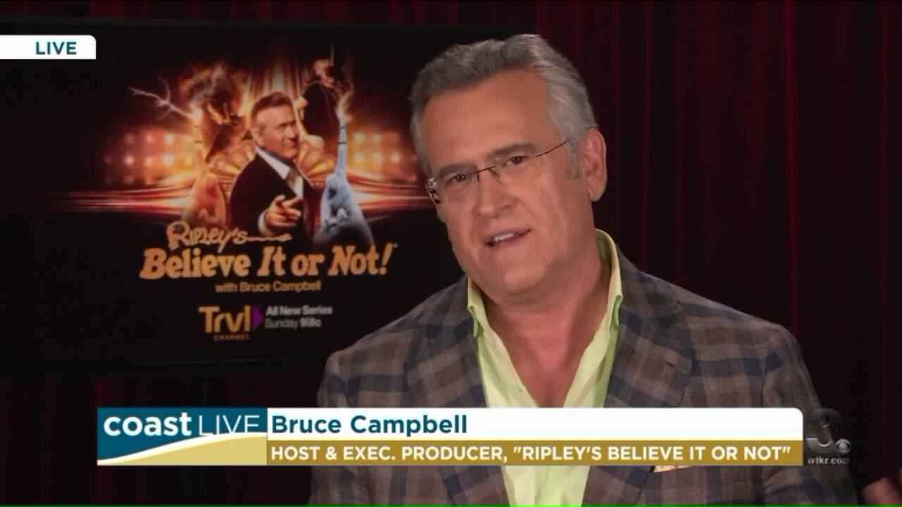 """""""Believe It or Not,"""" Bruce Campbell previews his latest project on CoastLive"""