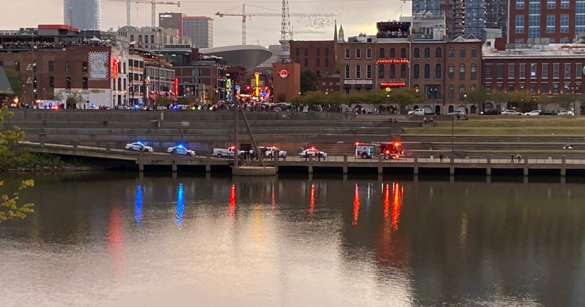 Search for person that fell into the Cumberland River downtown