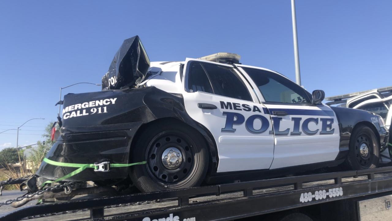 Officer-involved crash in Mesa