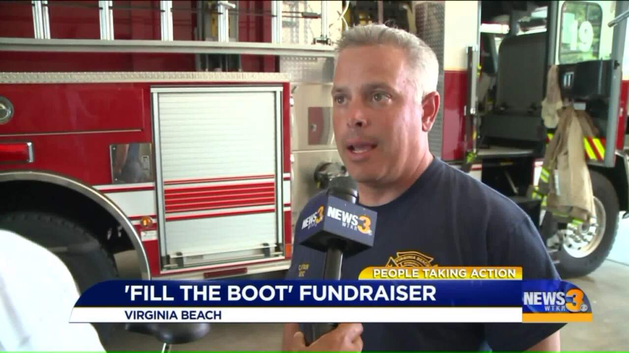 People Taking Action: Local firefighter takes action fills his day filling the boot to helpothers!