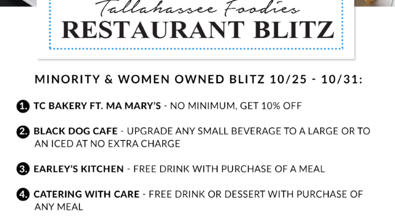 Tallahassee Foodie features minority and women owned restaurant in weekly blitz
