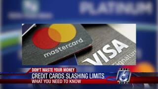 Credit cards slashing spending limits