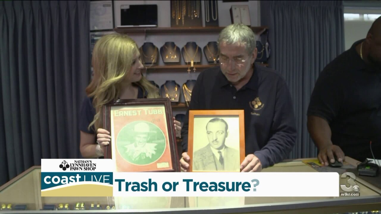Digging through photos and jewelry looking for trash or treasure on CoastLive
