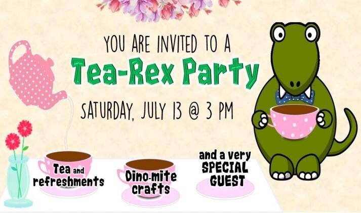 Ben F. McDonald Public Library - Tea-Rex Party Facebook Page