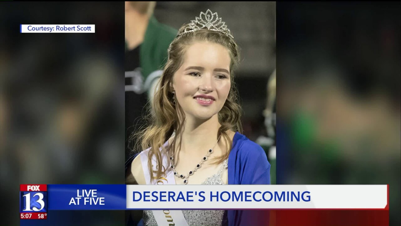 'I totally felt like Cinderella': Gunshot survivor Deserae Turner crowned Homecoming Queen