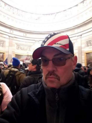 Walt Messer in the Capitol Jan. 6