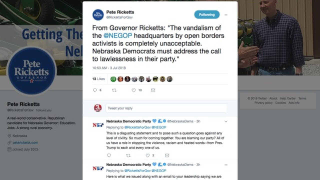 Nebraska GOP headquarters vandalized