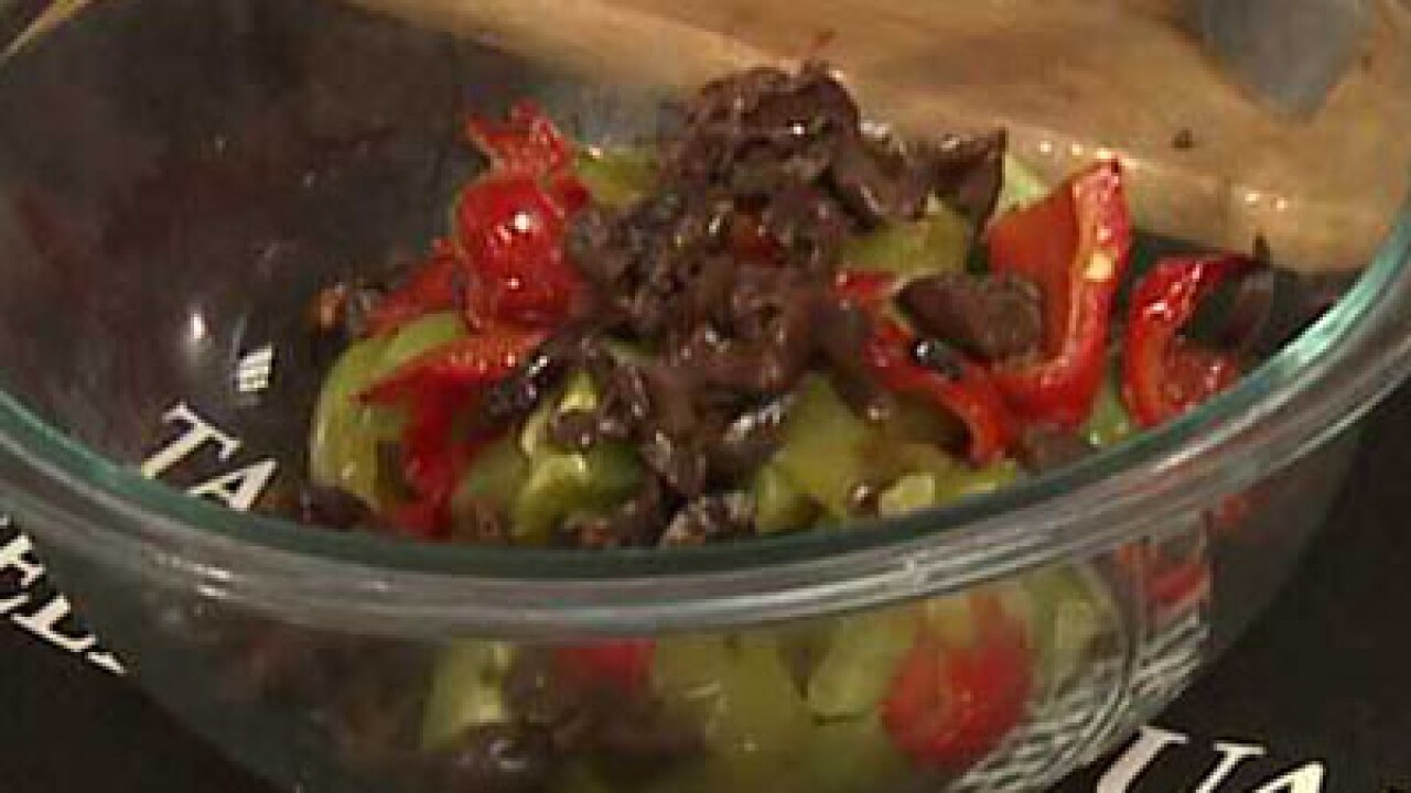 Roasted Peppers in a Caper Dressing (10.03.12)