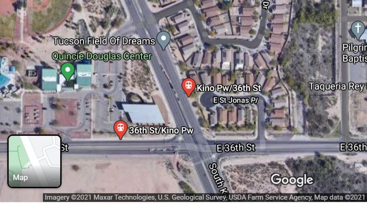 A one-day restriction today at the intersection of 36th St and Kino Parkway begins at 8 a.m. TPD will direct travel, since the signal will be turned off until about 4 p.m.
