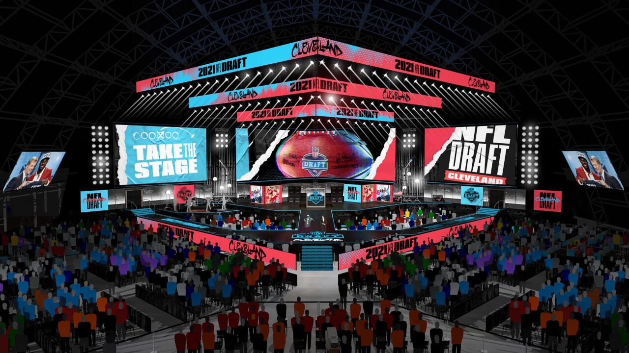 NFL Draft Stage rendering
