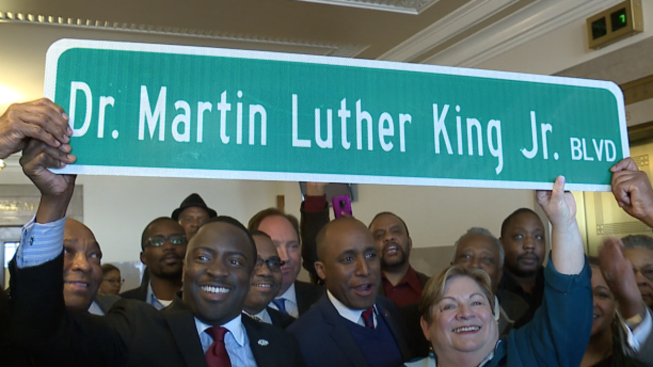 Paseo Academy students celebrate MLK day after new street name