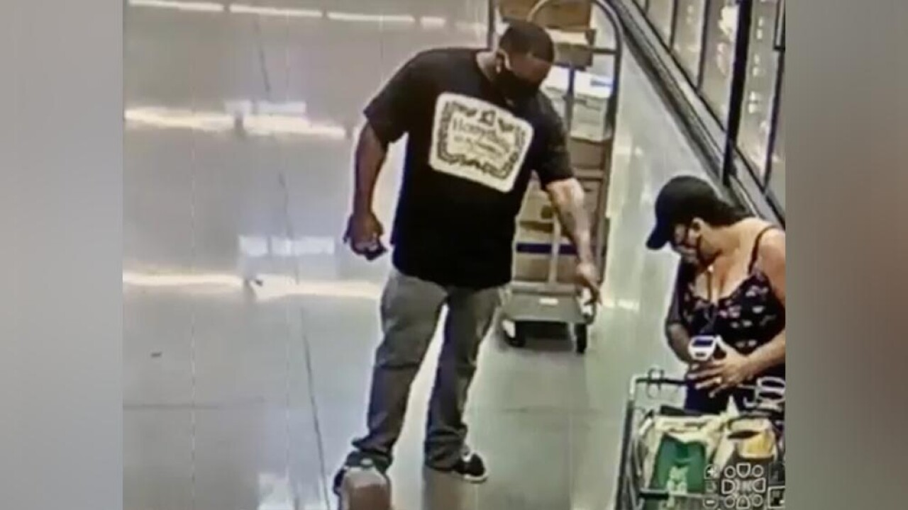 Woman claims man sprayed substance on her at supermarket
