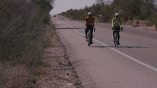 Cyclists can share the road in Arizona.