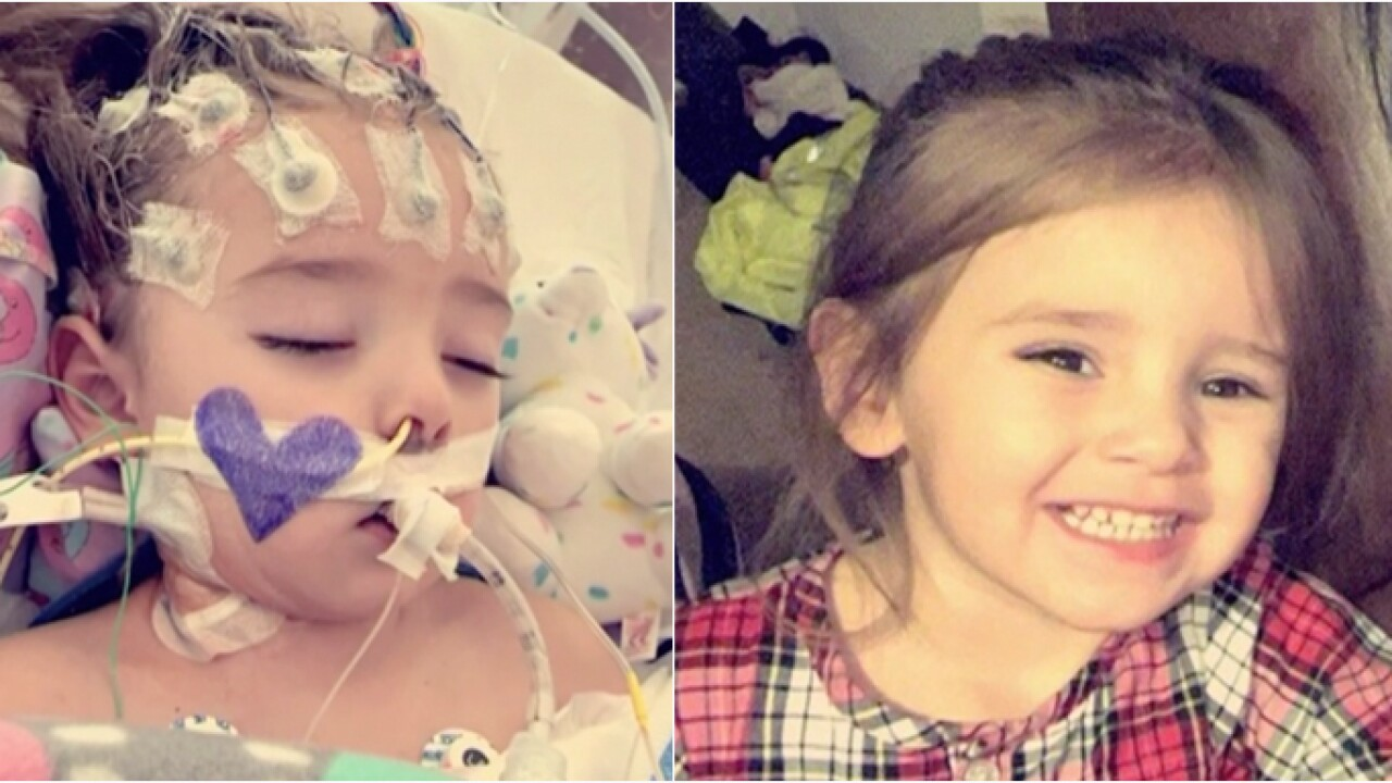 Toddler fighting for her life after flu symptoms lead to rare brain infection