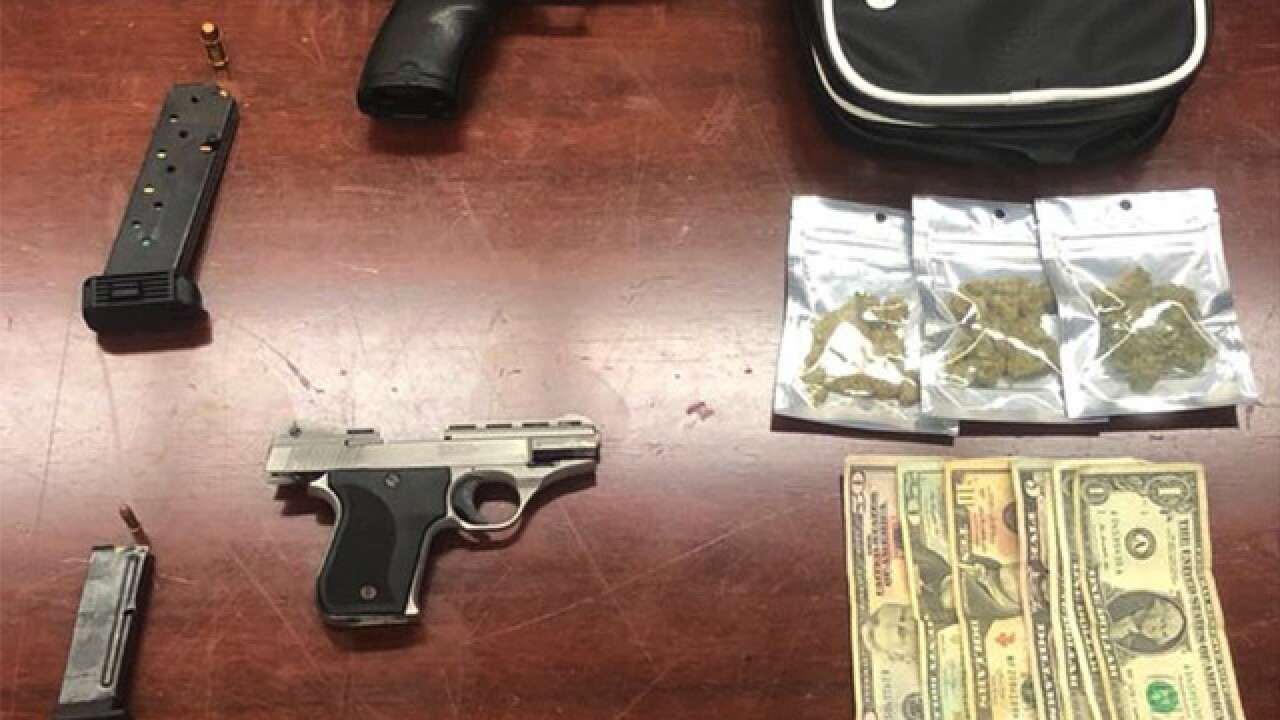 Two 19-year-olds arrested with handguns, drugs