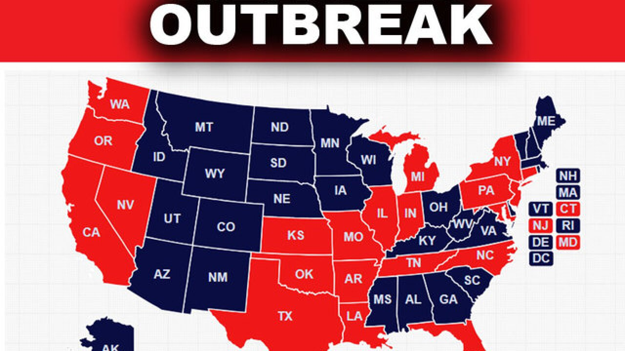 Measles outbreak reported in 21 states, including Florida ... on leptospirosis map state, allergy map state, lyme disease map state, mrsa map state, obesity map state, autism map state,
