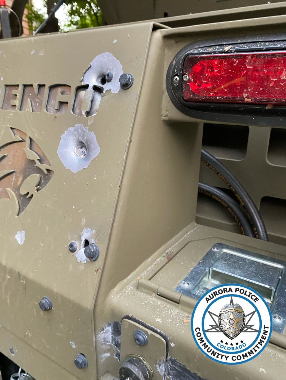 July 13 2021_Arapahoe County SO BearCat vehicle which was struck by gunfire