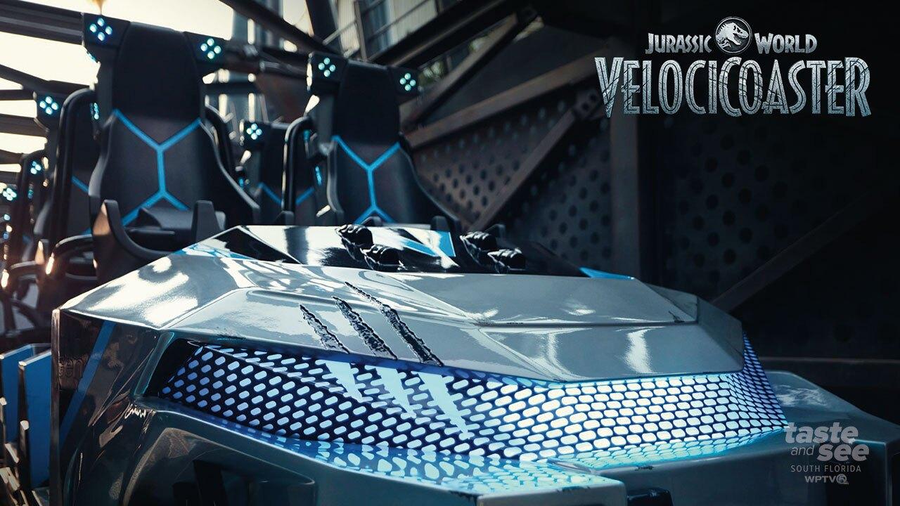 Jurassic World VelociCoaster Ride Vehicle