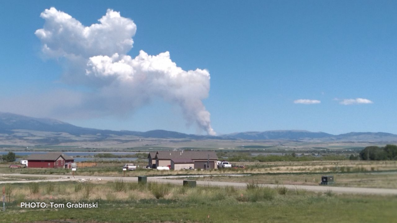 Wildfire east of Townsend