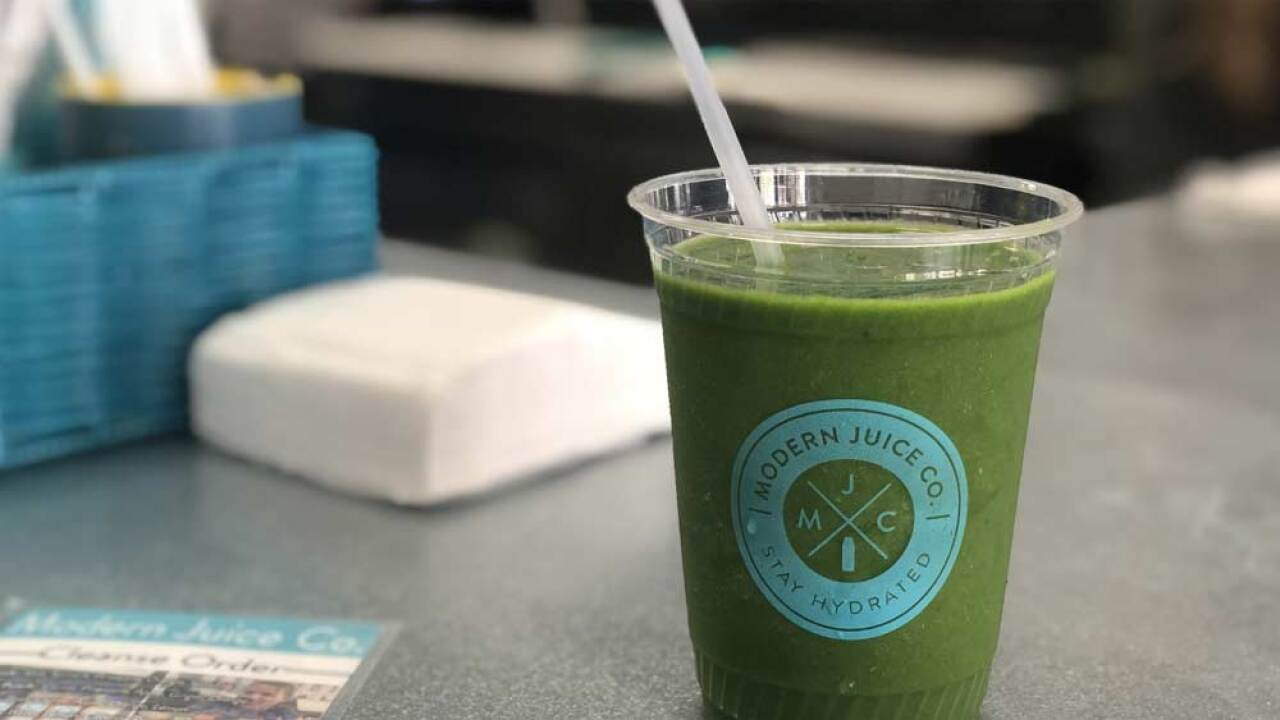 CBD oil smoothie at Modern Juice Company in Jupiter