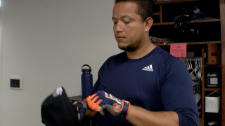 Miguel Cabrera shows up to Tigers camp in better shape, big goals