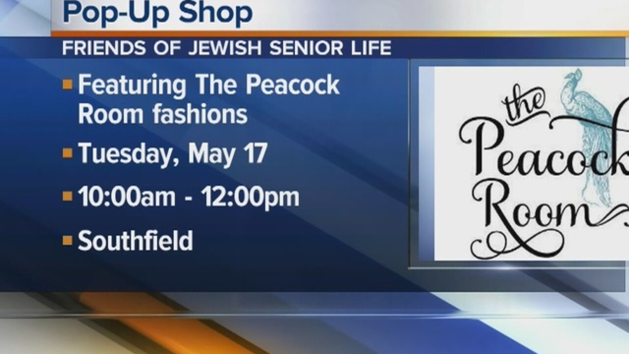 Pop-up shop featuring the Peacock Room fashions