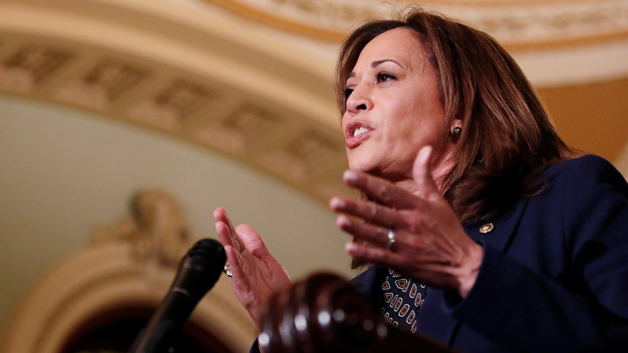 Kamala Harris defends criminal justice record in speech to South Carolina NAACP