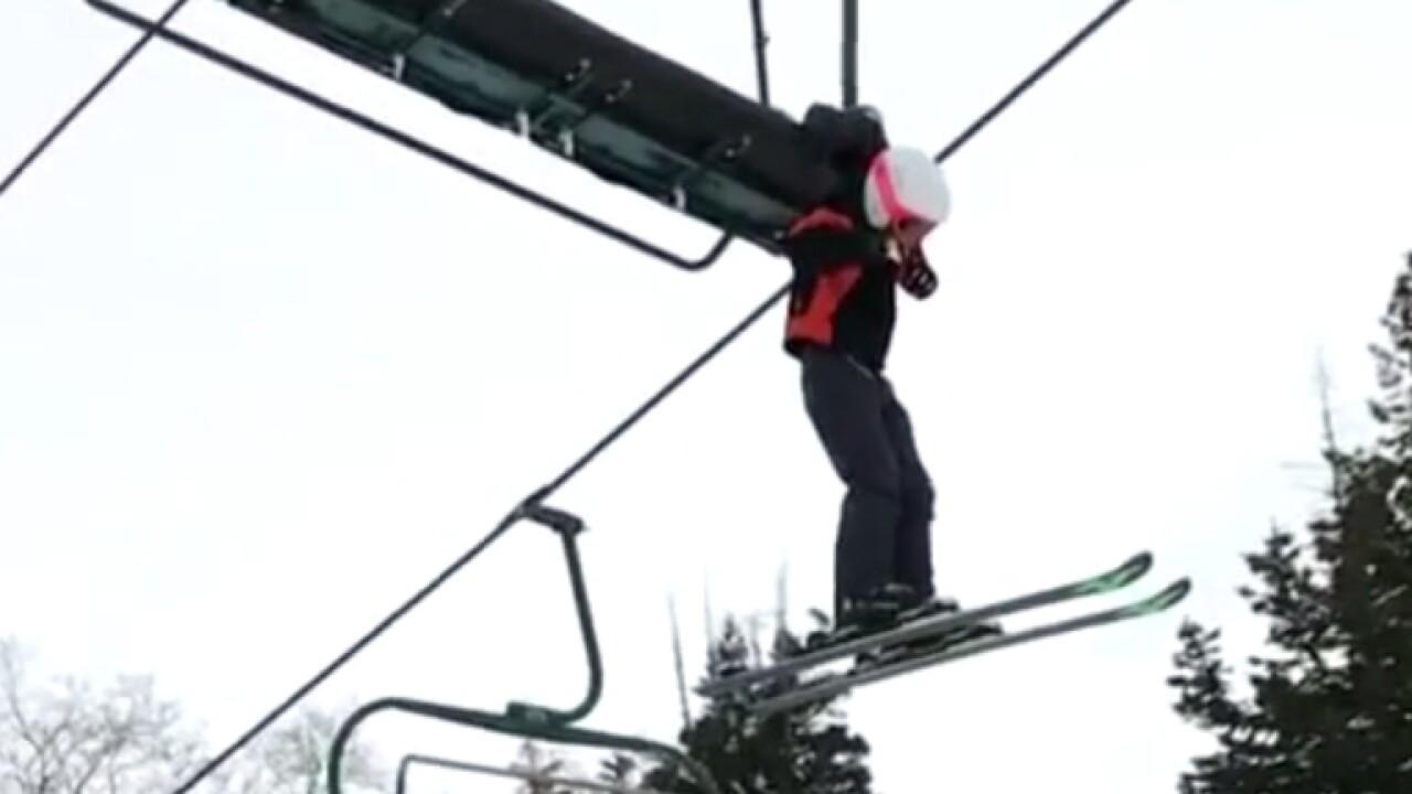 Boy gets caught on ski lift in tense moment at SundanceResort