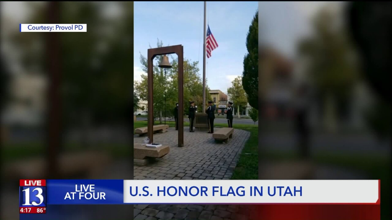 Honor Flag comes to Utah to honor officers Romrell, Shinners andothers