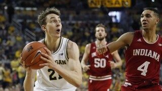 Michigan routs Indiana, helps NCAA Tournament chances