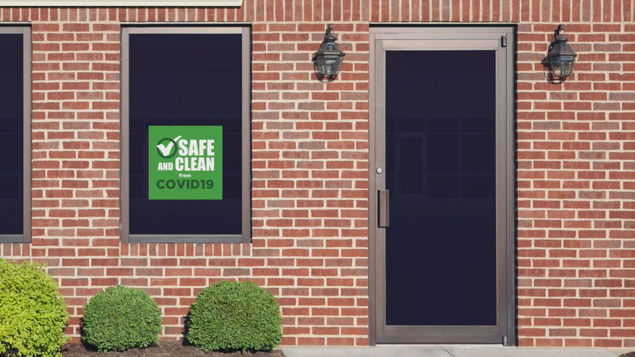 """What you should know about """"COVID-19 Safe Business"""" stickers on storefronts"""