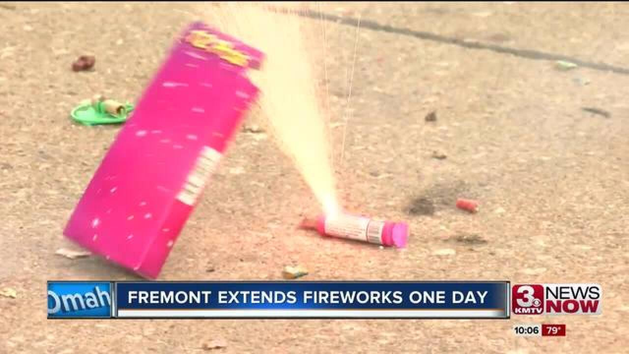 Fremont will allow fireworks to be discharged...