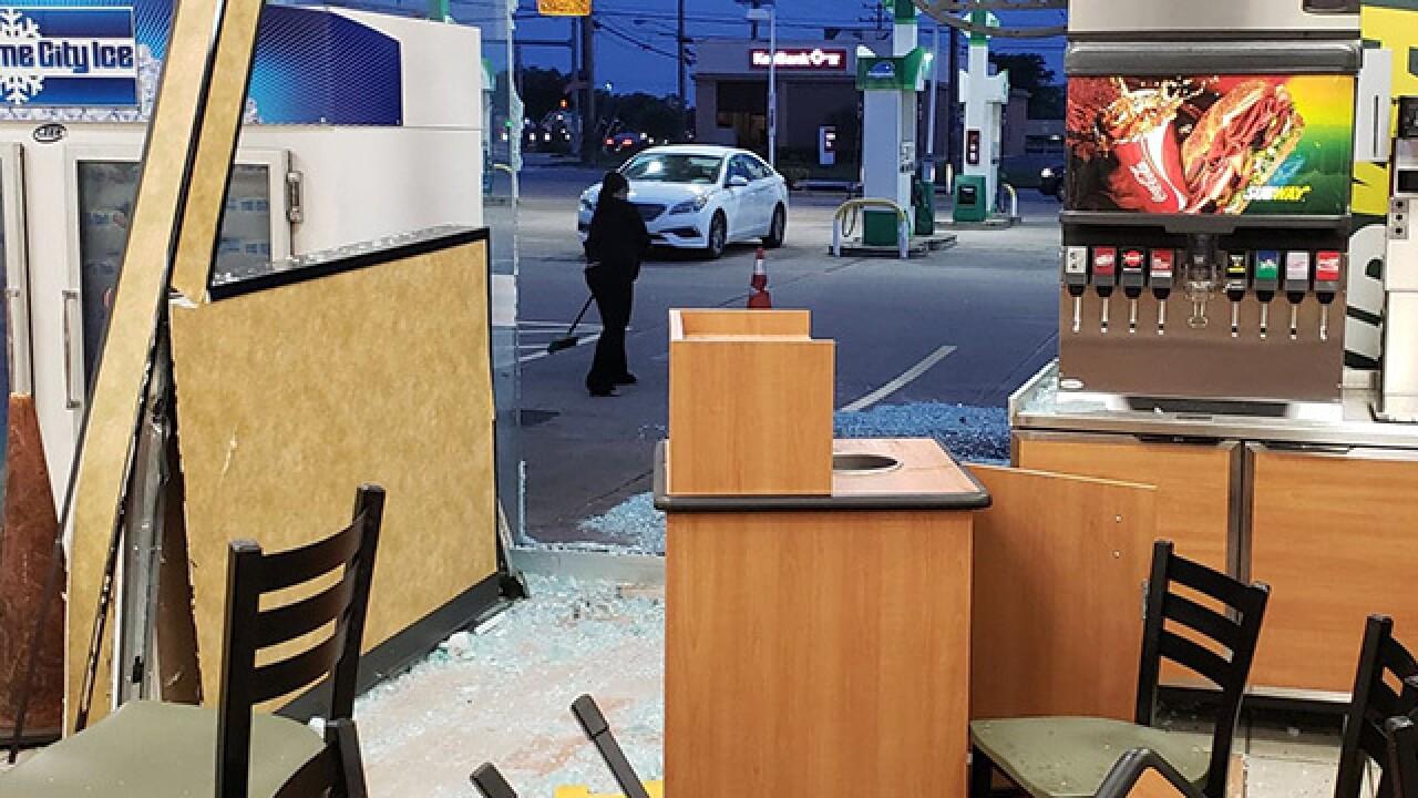 ATM stolen in brazen Parma smash and grab