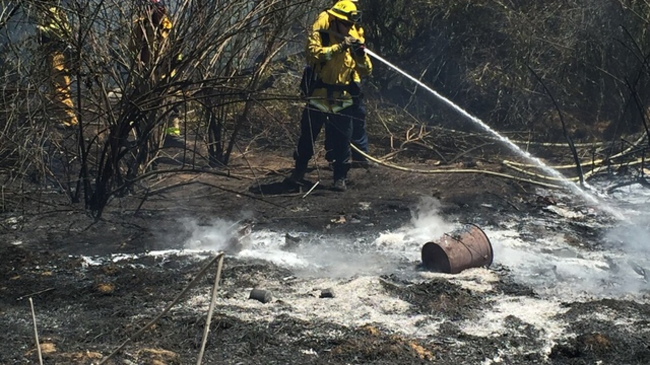 Firefighters battle two brush fires in South Bay