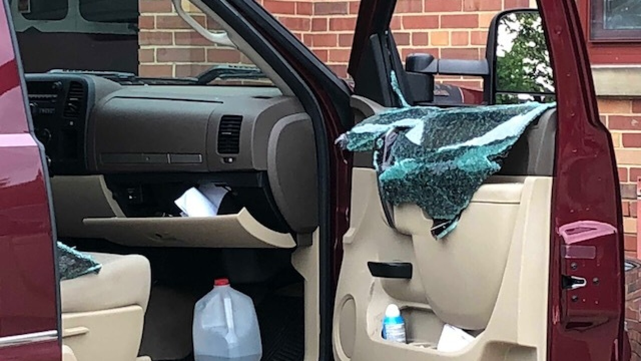 Vandals smash up cars at Cleveland fire station