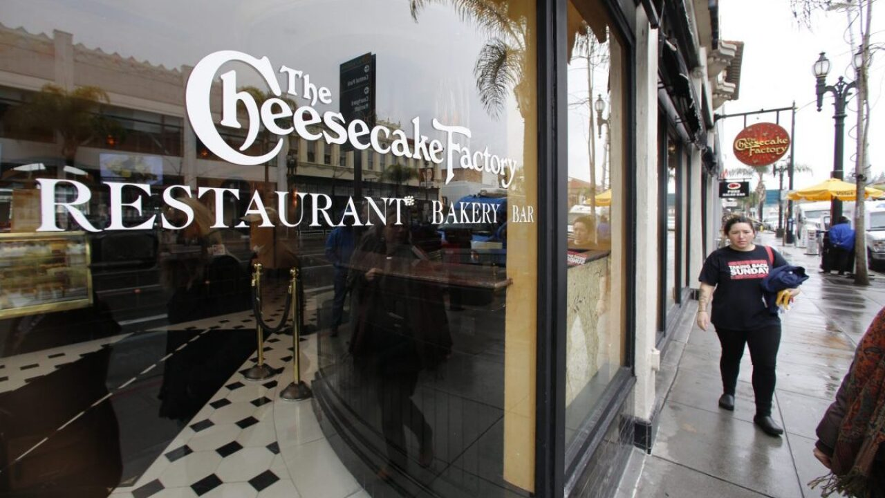 Get 2 burgers, fries and drinks plus a slice of cheesecake for just $20 at The Cheesecake Factory