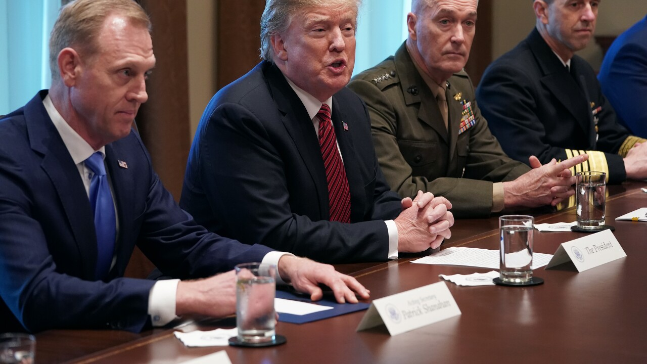 President Trump Receives Briefing From Senior Military Leaders