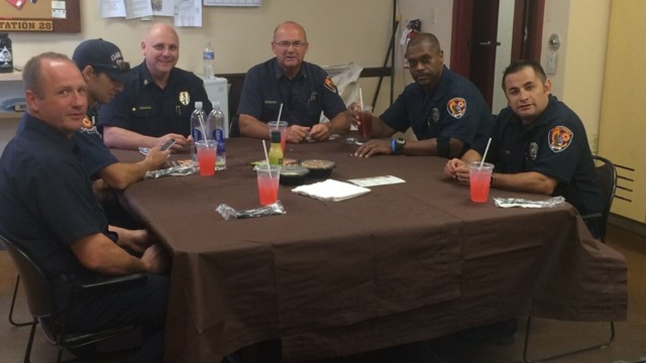 Olive Garden serves lunch to community heroes