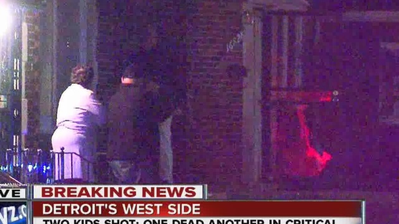 97fa2861e0 Two kids shot, one killed on Detroit's west side