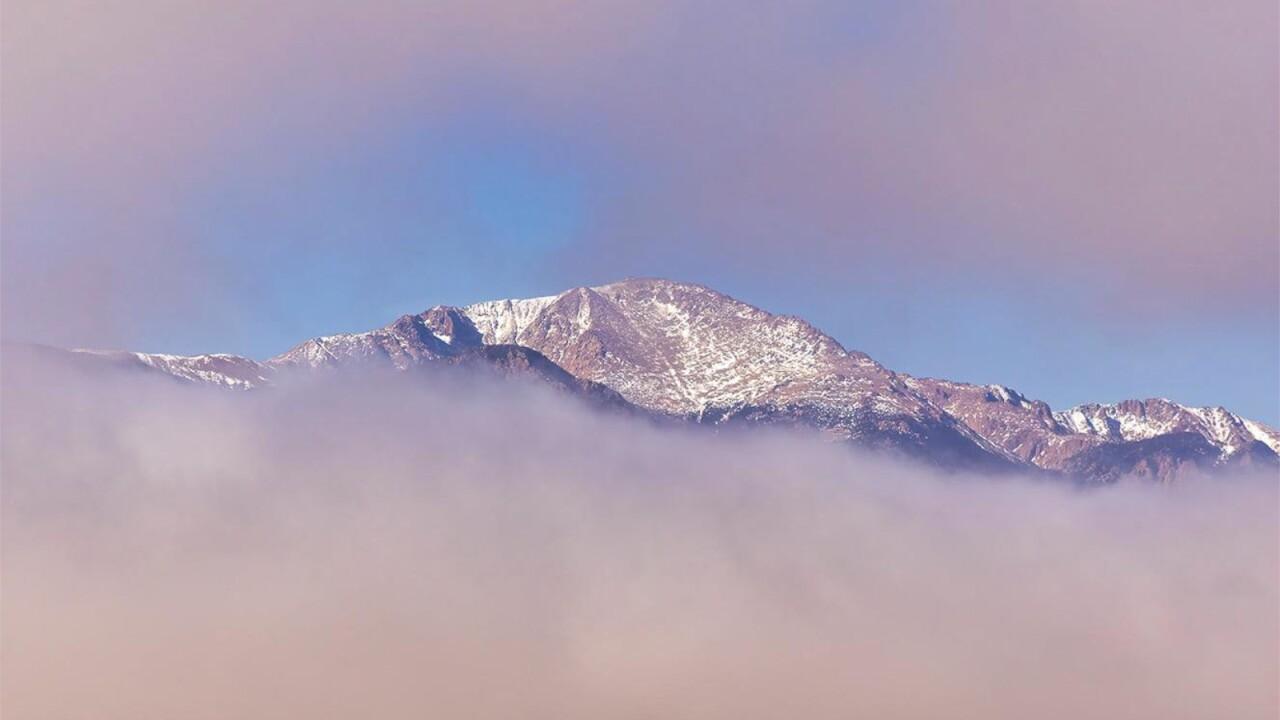 Low clouds Pikes Peak