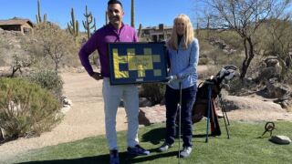 Karen Drake recently started playing golf again after an eight-year absence, so she was pleasantly surprised to get a hole in one last month at home number 14 at Stone Canyon Club.