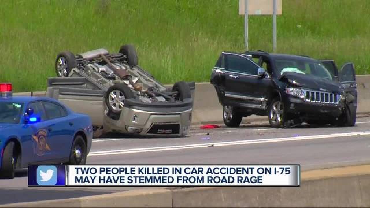 2 killed, 8 injured in suspected road rage crash on I-75 in